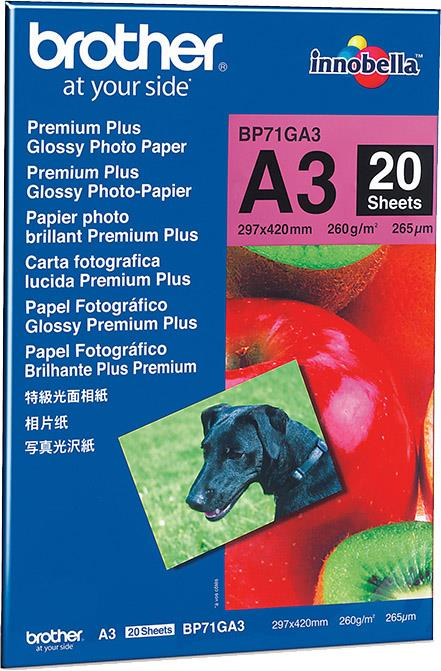 Brother Foto papir glossy A3, 20 listov