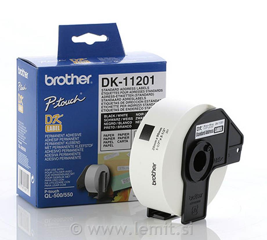 Brother DK11201 Standardne nalepke