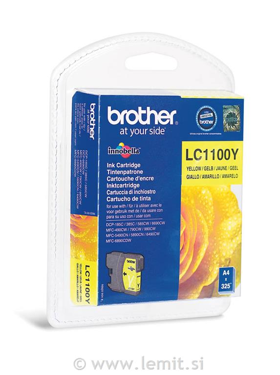 Brother Kartuša LC1100Y, yellow, 325 st.
