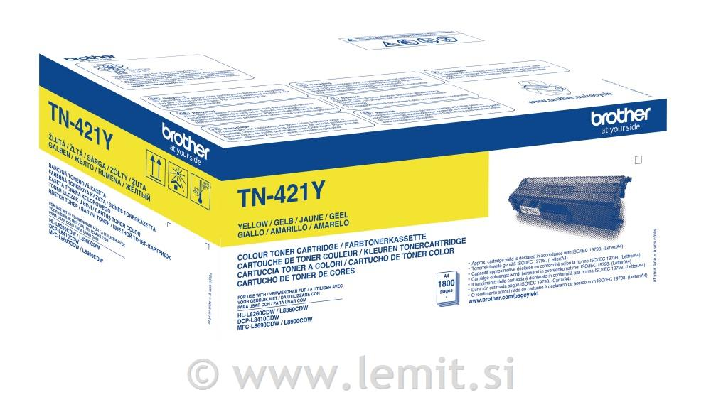 Brother Toner TN421Y, yellow, 1.800 str.
