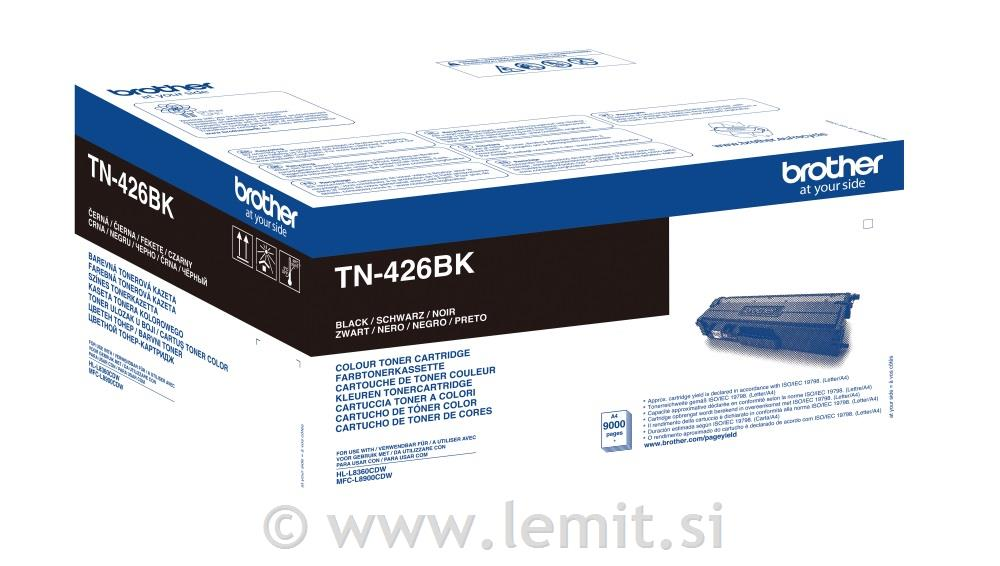 Brother Toner TN426BK, črna, 9.000 str.