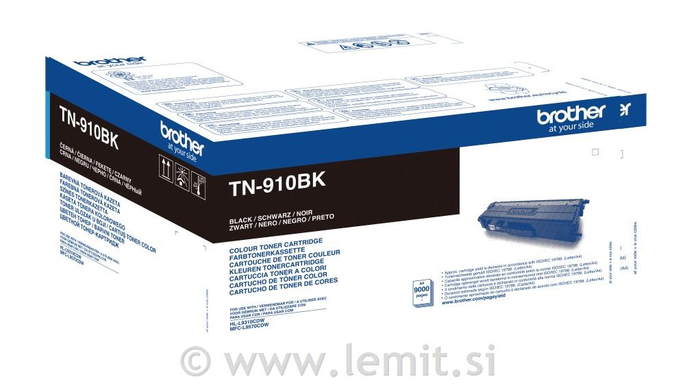 Brother Toner TN910BK, črn, 9.000 strani